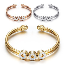 Geometric titanium steel bangle, snake bone chain,multi  color, open, women s bracelet, fashion jewelry wholesale,ZJ1022