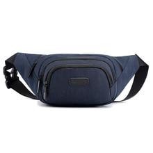 2019 Casual Waist bag for men High Quality Sport Chest Waterproof Outdoor belt Phone Black Grey Blue Male Bum Hip