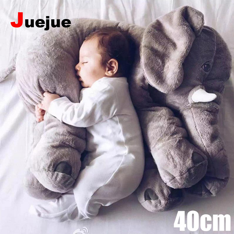 40cm Elephant Plush Baby Animal Elephant Style Doll Stuffed  Pillow Kids Toy for Children Room Bed Decoration Toys Kids Gifts  high quality crocodile elephant pillow cute animal shape cotton cushion cartoon baby children pillow kids toy free shipping