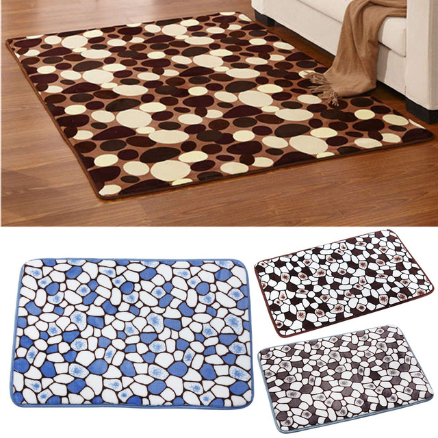 1pc Memory Foam Absorbent Bathroom Mat Pad Doormat Door Mat Slip-resistant Pad Bathroom Shower Bath Mats 40*60cm