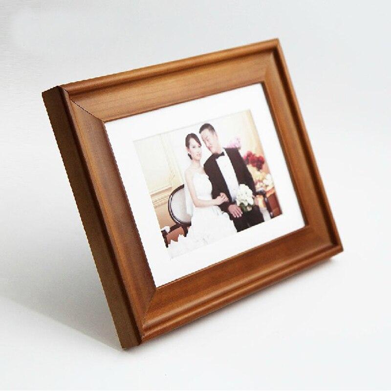 2 Unitspack Modern Freestanding Solid Wood Photo Frames Wooden