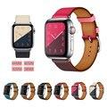 Echt Lederen Horlogeband voor Apple Horloge Band 44mm 40mm Serie 4/3/2/1 Lederen band 42mm 38mm Voor Iwatch Band Leer