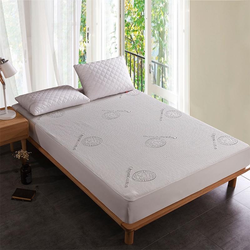 Organic Cotton Fabric Waterproof Mattress Protector Bed ...