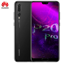 Orijinal Huawei P20 Pro Smartphone 6.1 inç Kirin 970 Octa çekirdek 6GB 128GB Android 8.1 yüz GPU Turbo süper şarj 4000mAh