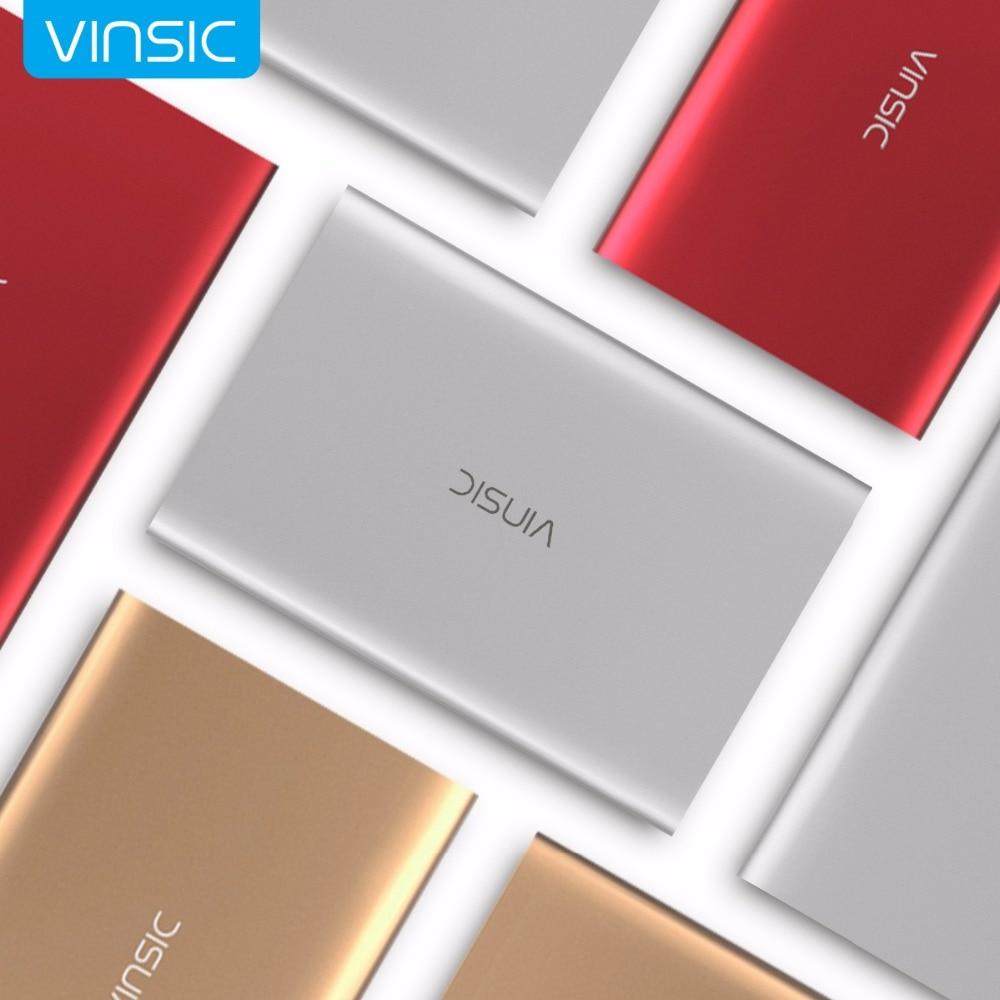 imágenes para Vinsic 20000 mAh Banco Portable de la Energía Externa Packup Cargador de Batería con Pantalla LED Dual USB para el iphone 7 Samsung Xiaomi Huawei