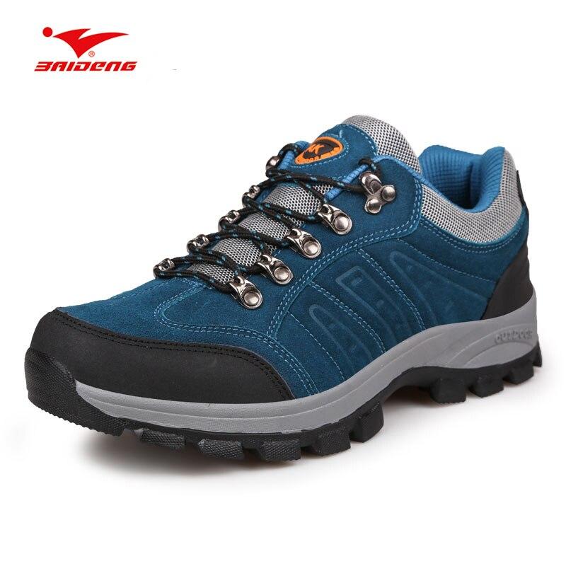 Hi-tec Hombre Bay Caminar Zapatos Gris Deporte Exterior Transpirable Peso Ligero