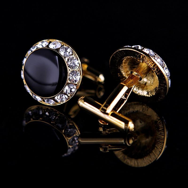 KFLK Perhiasan kemeja perancis manset untuk pria Merek Kristal manset - Perhiasan fashion - Foto 2