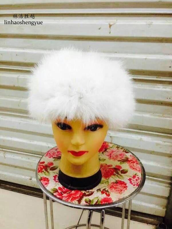 Linhaoshengyue Le renard à tricoter écharpe ou tête Ensemble de la vraie fourrure  des femmes de mode chaud chapeau d hiver freeshipping 03bbca66267