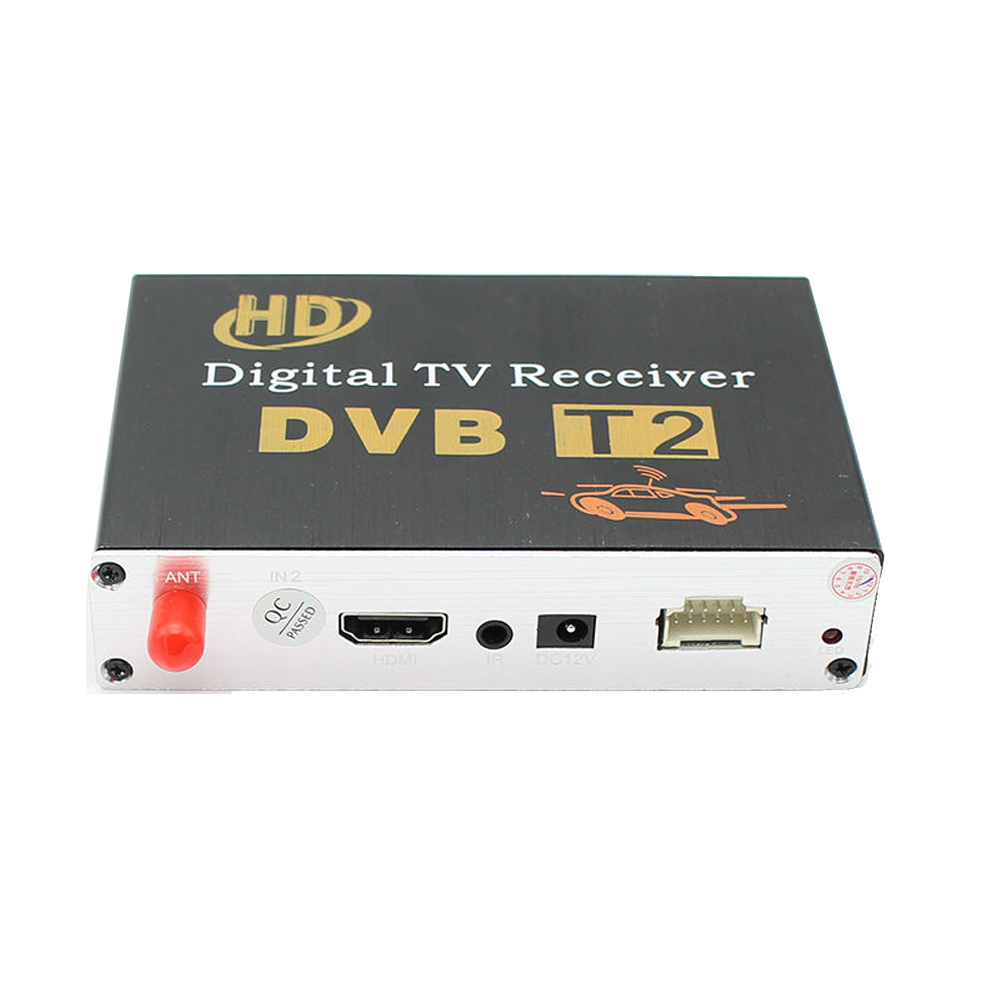 Vancago HD 1080P Car DVB-T2 One Tuner Digital TV receiver MPEG-4 H.264 For Android car dvd For Russia Thailand Columbia car one seg receiver for usb isdb t brazil digital tv receiver android isdb t digital car tuner four way single antenna m 288x