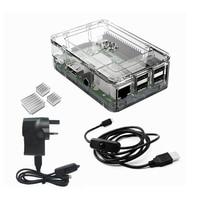 Elecrow Raspberry Pi 3 Starter Kit Clear Case Power 2pcs Heatsinks And Micro USB With On