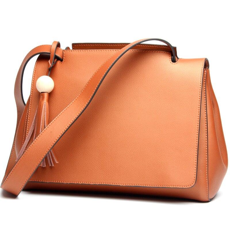 2017 migliori donne Del cuoio Genuino borse primavera moda femminile borsa a tracolla signore totes grande marca ipad rosa donne crossbody bag