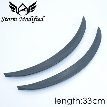 SuTong 1 Pair Carbon Fiber Style Fender Flare Wheel Lip Body Kit Universal 33CM For Car Mudguard Mud Guard Auto Accessories image