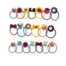 20 Pcs Girls Head Rope Rubber Ring Hair Cute Tie Cartoon Animal Fruit Fashion Kids Baby Lovely Elastic Bands