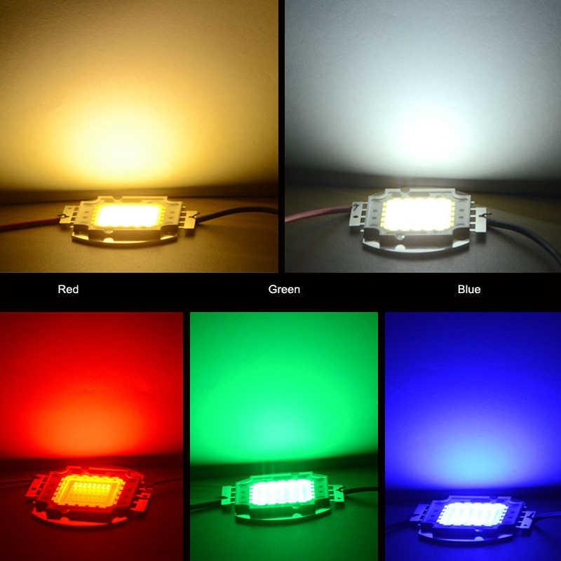 10W 20W 30W 50W 100W yüksek güç LED ışık COB Led cips için projektör lambası Led spot beyaz/kırmızı/yeşil/mavi/RGB/UV