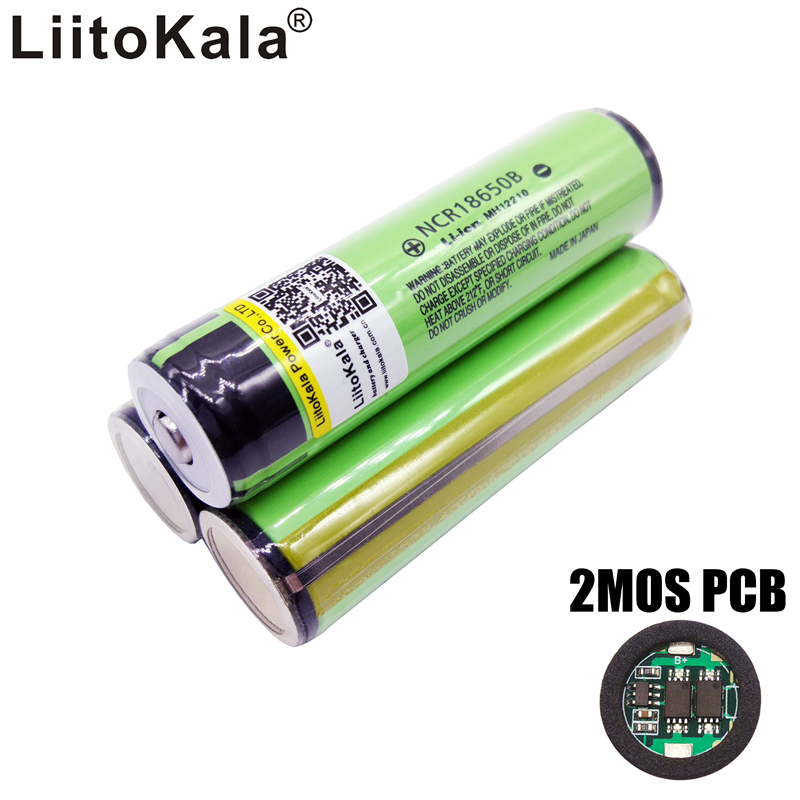 liitokala 2017 18650 34b 3400 New Original battery Li-ion Rechargeable 3400mAh battery ncr18650b PCB Protected