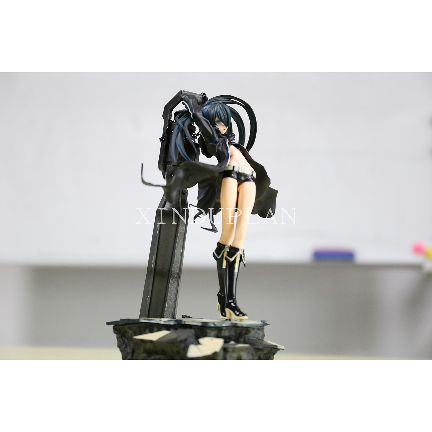 XINDUPLAN VOCALOID Anime Hatsune Miku Black Rock Shooter BRS PVC Action Figure Collectible Kids Toys 29cm s017 hot anime vocaloid hatsune miku action figures pvc brinquedos collection figures toys kids birthday christmas gift free shipping