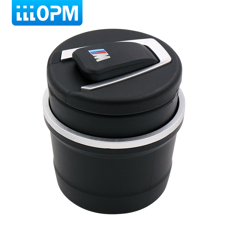 lllopm New Arrival Fireproof Plastic Material Car Ash Tray Ashtray Storage Cup With LED for BMW 1 3 4 5 7 Series X1 X3 X5 X6