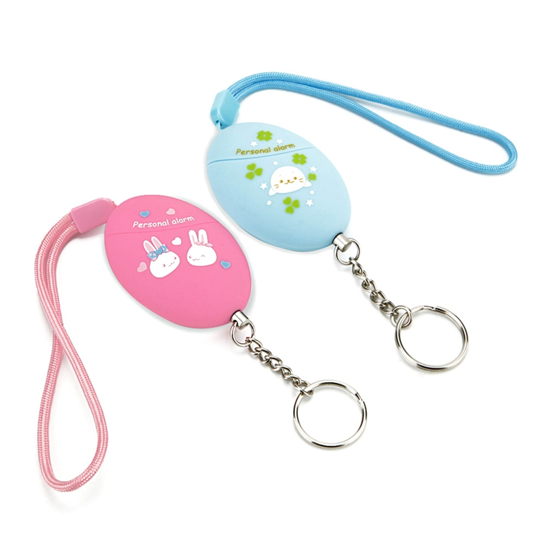 120db Personal Cute Rabbit Patern Defense Anti-attack Security For Children And Older Women Carrying A Panic Alarm