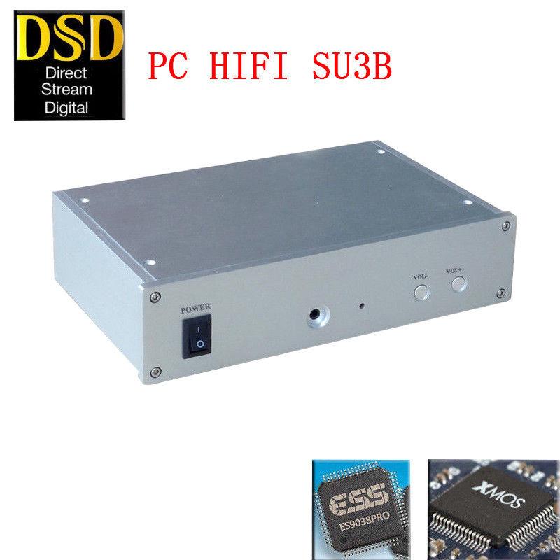 HiFi DSD XMOS ES9038PRO Asynchronous USB Decoder DAC Desktop Amplifier For PC With Headphone Jack su3b pc hifi dac es9028pro xmos u8 asynchronous usb decoder headphone amplifier