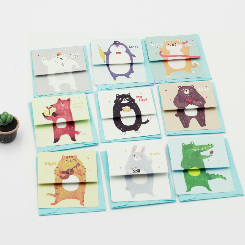 Aliexpress Buy I15 Kawaii Funny Folding Animals Hard Paper