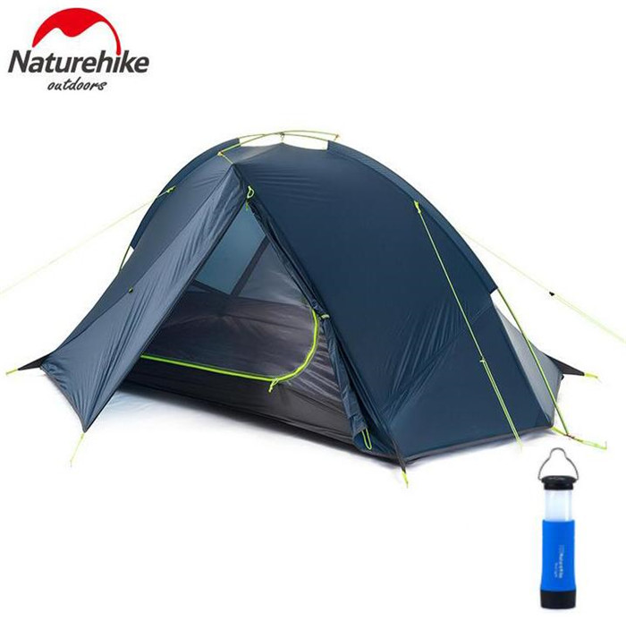 Naturehike 2 Person Hiking ultralight Tent 20D Silicone Fabric 3 Season Aluminum Pole Waterproof Outdoor Hiking Camping tent naturehike 2 person tent ultralight 20d silicone fabric tents double layer aluminum rod camping tent outdoor tent 4 season