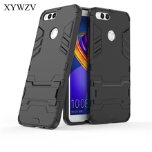 Für Abdeckung Huawei Honor 7X Fall Robot Harte Gummi Telefon Abdeckung Fall Für Huawei Honor7X Abdeckung Für Huawei Ehre 7 X Coque XYWZV