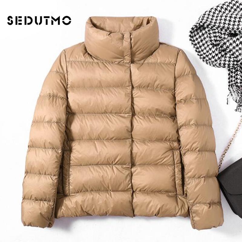 SEDUTMO Winter Thick Duck Down Jackets Womens Oversize Ultra Light Short Coat Warm Black Casual Spring Puffer Jacket ED501