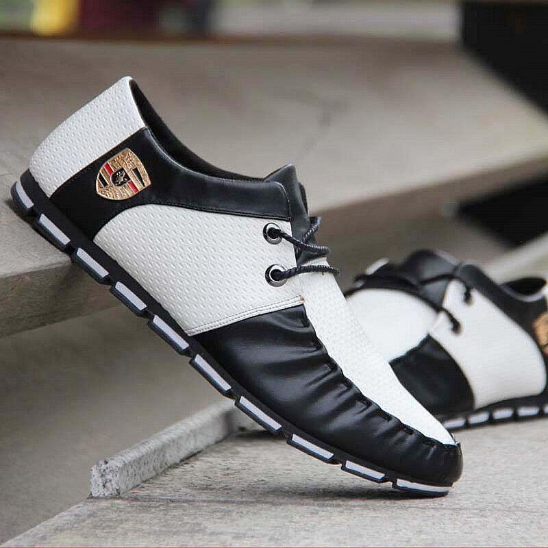 Baisse Trous Plat Chaussures Casual 2018 Lacent Cuir Black Gratuite Luxe En Nouveau Douce white De Conduite black Hommes Automne Marque Respirant White 8qWfnWac