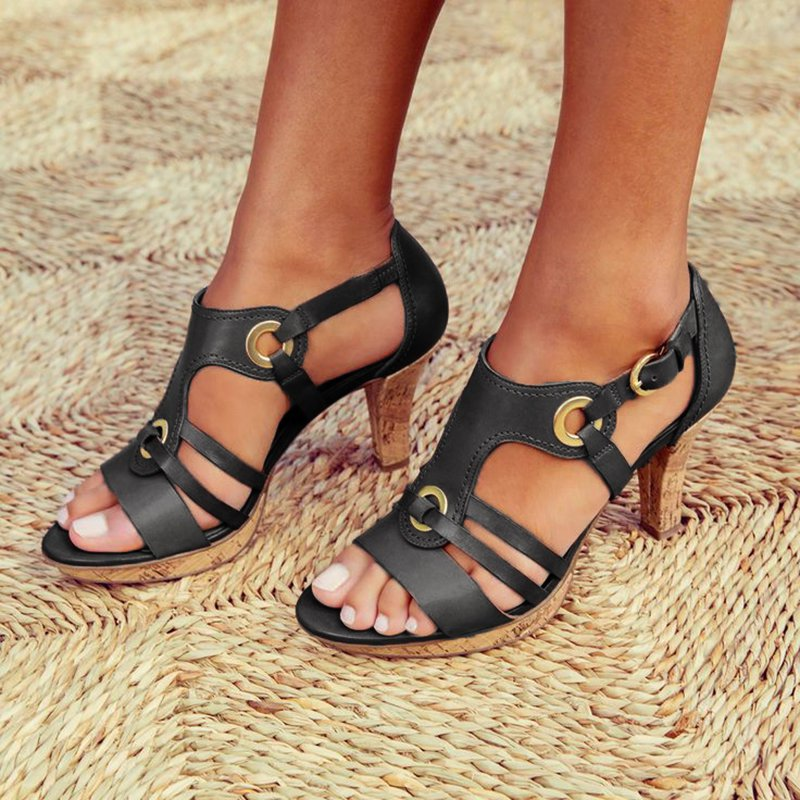 HEFLASHOR Woman Pumps High Heels Shoes Women Sandals Ankle Strap Casual  Strap Slip-on Shoes Plus Size zapatos de mujerHEFLASHOR Woman Pumps High Heels Shoes Women Sandals Ankle Strap Casual  Strap Slip-on Shoes Plus Size zapatos de mujer