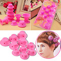 10PC Soft Rubber Rizadores Pelo DIY Hair Styling Roller Curler Hairdress Magic Curly Hair Style Tool Non-electric Hair Curlers