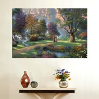 Thomas Kinkade Pastoral Landscape Painting Reproduction Canvas Nice Quality Art Decor Picture Home Wall Art Decoration Unframed
