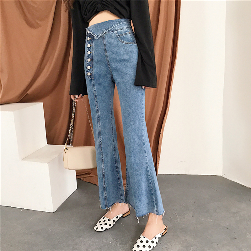 Cheap Wholesale 2019 New Spring Summer Autumn Hot Selling Women's Fashion Casual  Denim Pants BC120