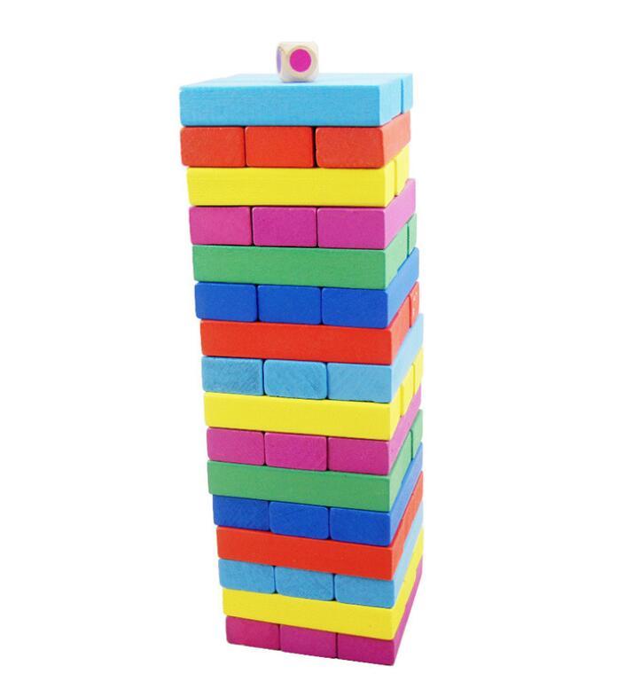 Nuovo arrivato Colorato blocchi di giocattoli di legno per il regalo Di Natale di qualità molto superiore