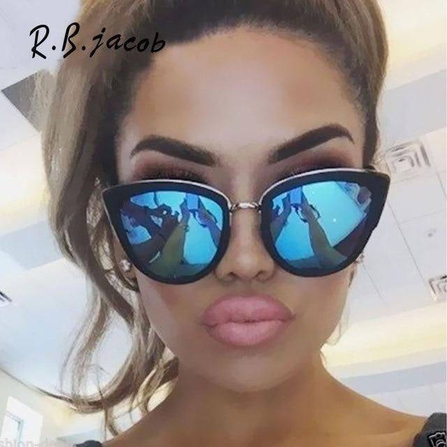 e70f1ca045ba 2017 New Style Cat Eye Women Sunglasses Summer Hot Sale Fashion Lady Sun  Glasses For Men High Quality Vintage Designed UV400