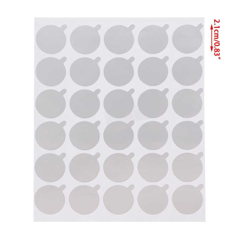 30 Uds. Soporte de pegamento para pestañas desechable paleta pegatina para pestañas almohadillas de extensión herramienta de belleza
