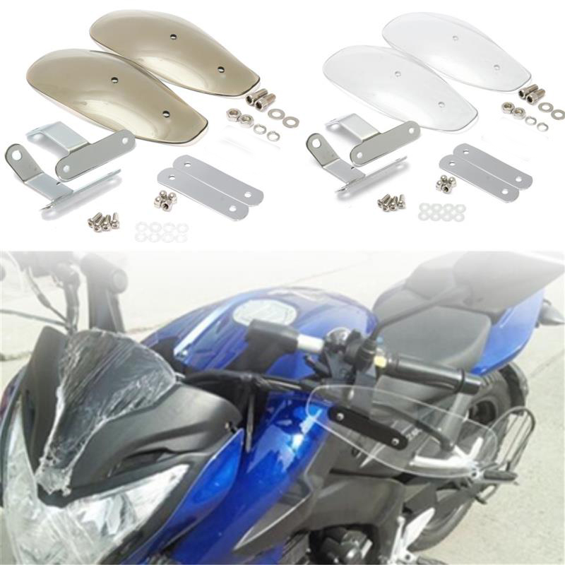 10mm Motorcycle Hand Guard Handguard Wind Protector Shield case for Honda yamaha suzuki kawasaki KTM Harley Touring atv motorcycle wind shield handle hand guards motocross transparent handguards for honda cbf600 sa cbf1000 a cb1100 gio nc750