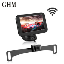 5 Inch In-dash Car Monitor Screen Mirror With Hd Lcd Rear View Wireless Magnetic Bracket For Camera
