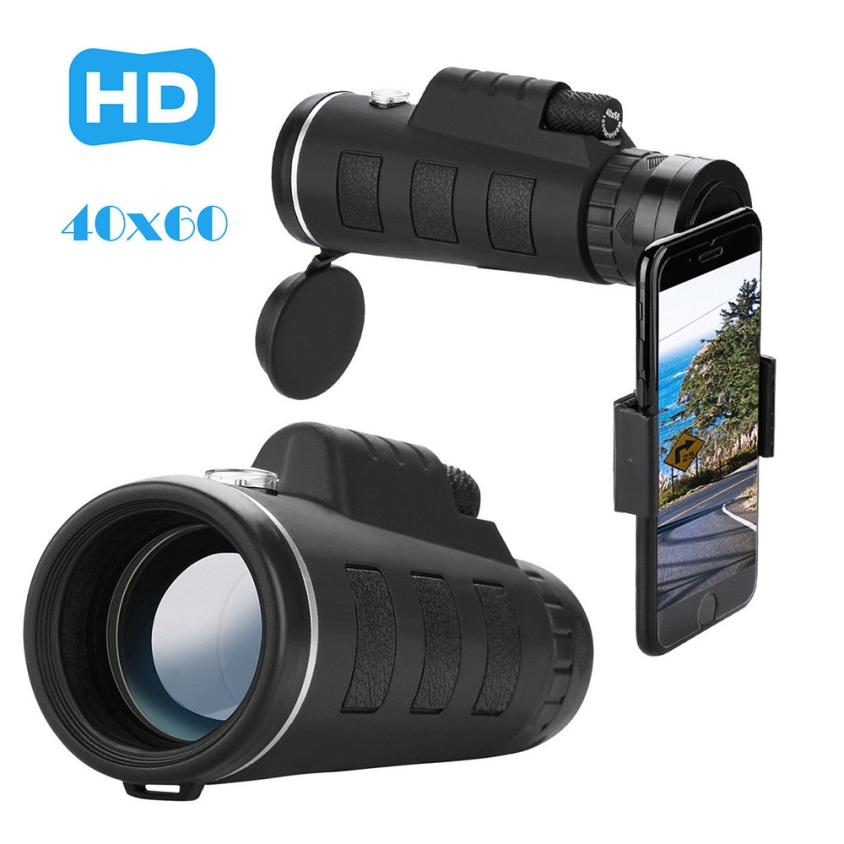 2018 HD 40x60 Optical Zoom Telescope Camera Lens Clip Mobile Phone Telescope Phone  Lens With Clip For Phone Universal  7.20