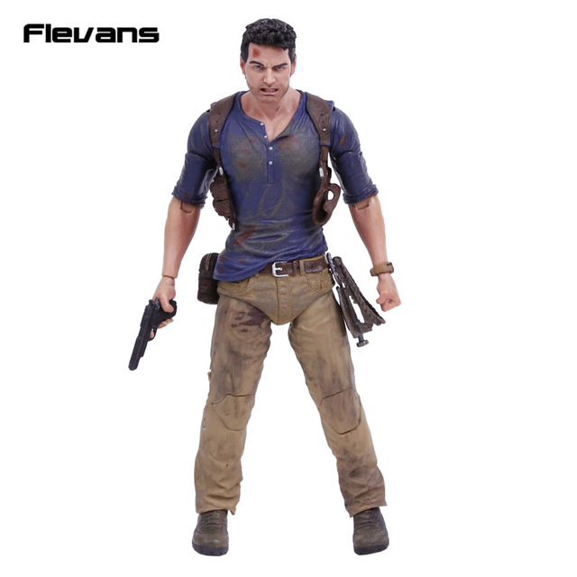 """NECA Uncharted 4 A thief's end NATHAN DRAKE Ultimate Edition Action Figure Collectible Model Toy 7"""" 18cm"""