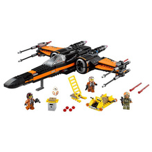 748 pcs 2016 LEPIN 05004 79209 Star Wars First Order Poe s X wing Fighter Assembled