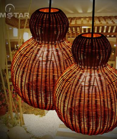 Southeast Asia rattan weaving single head Pendant Lights creative personality retro balcony restaurant hot pot shop LU811248 southeast asia style creative single head wood art retro restaurant pendant light living room decoration lamp free shipping