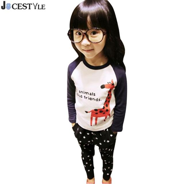 bd2e46905a Autumn Fashion Baby T-shirt Toddler Kids Baby Boys Girls Giraffe Print  Cartoon Long Sleeve