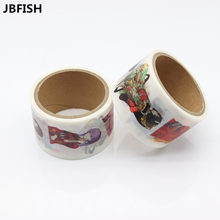 JBFISH Girls Pattern Japanese Washi Decorative Adhesive DIY Masking Paper Tape Sticker Label 9002