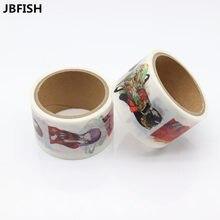 Купить онлайн Jbfish Обувь для девочек узор японский васи декоративные клей DIY маскировки Бумага Клейкие ленты Стикеры метки 9002