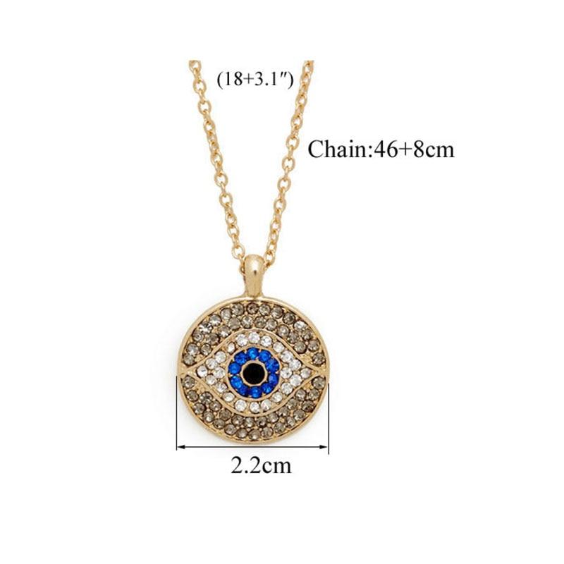 New Design Evil Eye Pendant Silver Necklace