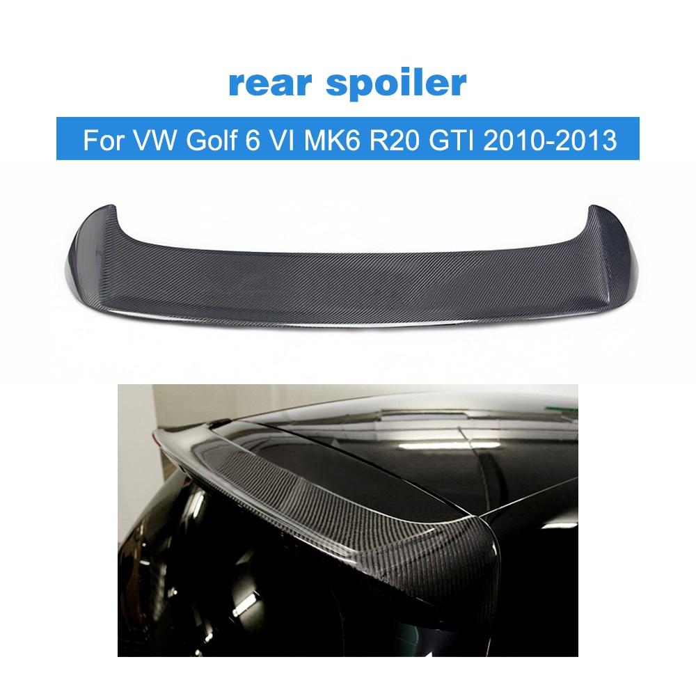 Carbon Fiber/FRP Unpainted Car Rear Roof Lip Spoiler For Volkswagen VW Golf 6 VI MK6 R20 GTI 2010-2013 R Style Window Wing carbon fiber front lip spoiler for volkswagen vw jetta gli mk6 sedan 4 door 2013 2015 black frp car styling