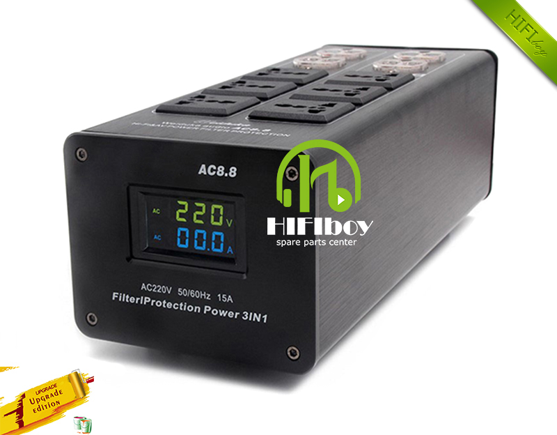 Power filter Weiduka AC8 8 power supply socket lightning protection with voltage display extension socket