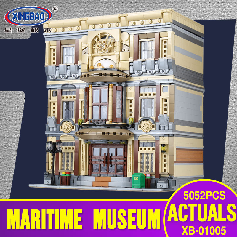 New XingBao 01005 Block 5052Pcs Genuine Creative MOC City Series The Maritime Museum Set Building Blocks Bricks Toys Model Gifts