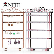 ANFEI 7 Style Earrings Display Jewelry Display Shelf Stand Display Rack Jewelry Organizer Display Storage Stand For Earrings