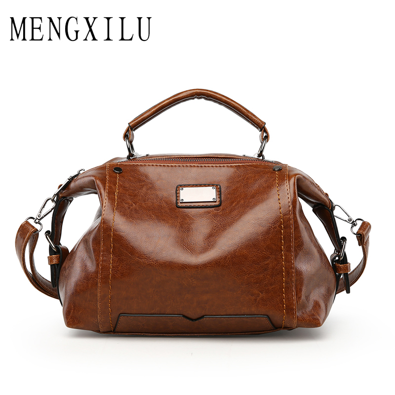 MENGXILU Brand Vintage Crossbody Bags For Women High Quality Tote Women Leather Handbags Designer Handbag Women Sac A Main 2018 mengxilu fashion women pu leather shoulder bags ladies letter crossbody bag brand luxury handbags women bags designer sac a main